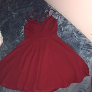 Blood red dress, opening in back